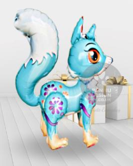 Blue Fox Foil Balloon