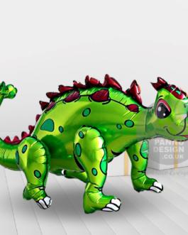 Ankylosaur Foil Balloon Green