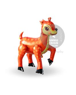 Sika Deer Foil Balloon Orange