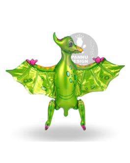 Pterosaur Foil Balloon Green