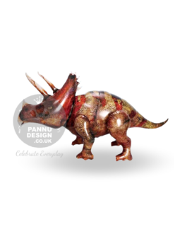 Brown Triceratops Foil Balloon