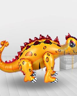 Ankylosaur Foil Balloon Orange