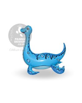 Plesiosaur Foil Balloon Blue