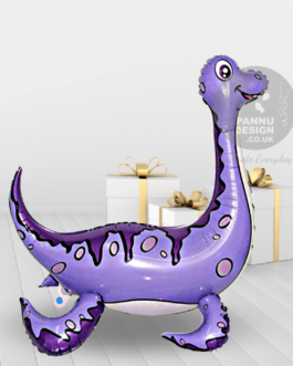 Plesiosaur Foil Balloon Purple