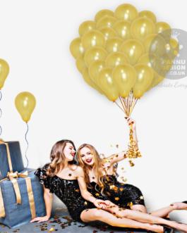 Plain Gold Latex Balloons