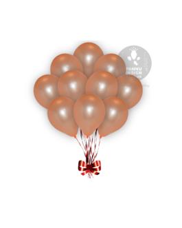 Orange Metallic Balloons