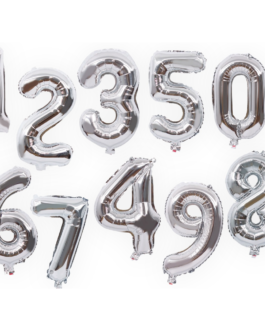 Foil Silver Number Balloons