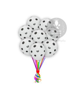 """Black and White Polka Dots Balloons 12 """" Inch"""