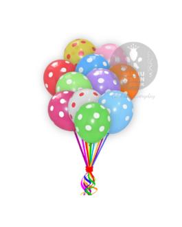 "Multicolour Polka Dots Balloons 12 "" Inch"