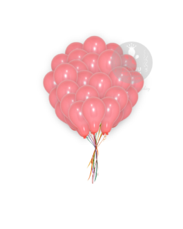Plain Coral Red Latex Balloons