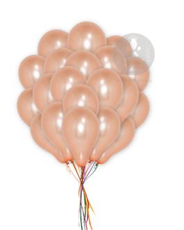 Plain  Rose Gold Latex Ballons