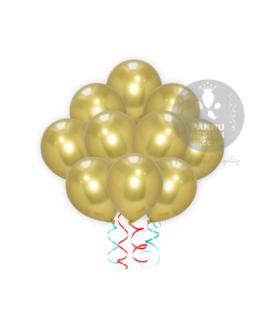 Gold Chrome Balloons Bunch
