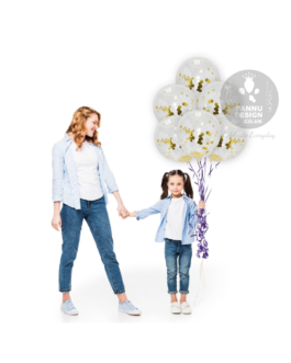 "Gold Confetti Balloons 12"" inch"