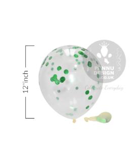 "Green Confetti Balloons 12"" inch"