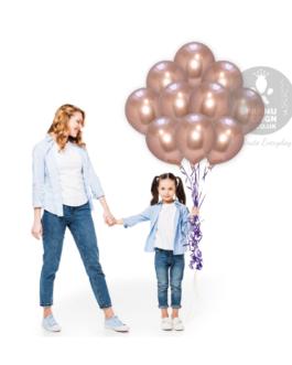 Rose Gold Chrome Balloons Set