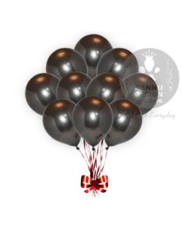 Black Metallic Balloons