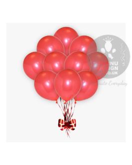 Red Metallic Balloons
