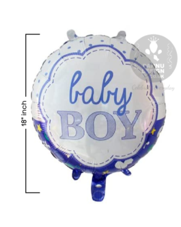Baby Round Cloud Foil Balloon 18″inch