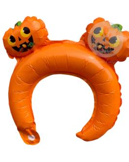 Orange Halloween Head band Foil Balloon