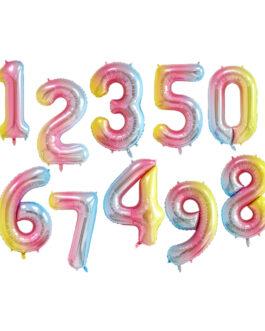 Rainbow Shade Number Balloons