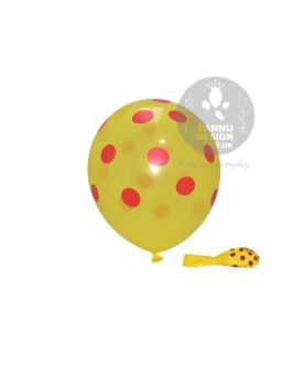 """Red and Yellow Polka Dots Balloons 12 """" Inch"""