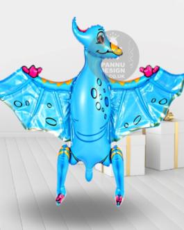 Pterosaur Foil Balloon Blue