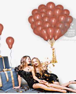 Plain Brown Latex Balloons