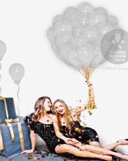 Plain Clear Latex Balloons