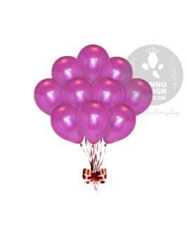 Hot Pink Metallic Balloons