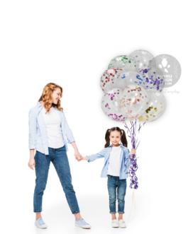 """Multicolour Confetti Balloons 12"""" inch"""