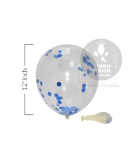 "Blue Confetti Balloons 12"" inch"