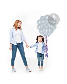 Light Blue Metallic Balloons