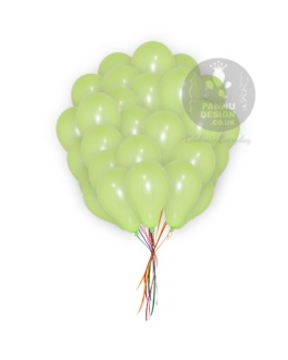 Plain Light Green Latex Balloons