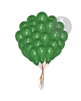 Plain Dark Green Latex Balloons