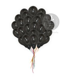 Plain Black Latex Balloons