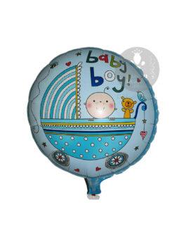 Round Baby Boy Foil Balloon 18″inch
