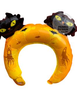 Yellow Halloween Head band Foil Balloon