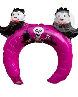 Pink Halloween Head band Foil Balloon