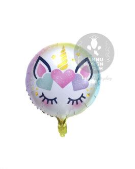 Unicorn Eyes Round Foil Balloon 18″inch