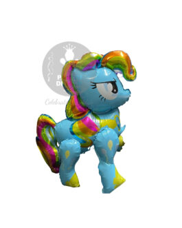 4D Colourful Horse Blue Foil Balloon 33″inch