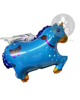 Blue Flying Unicorn Horse Foil Balloon 30″inch