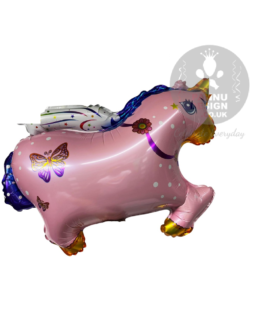 Pink Flying Unicorn Horse Foil Balloon 30″inch